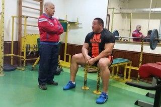 Михаил Кокляев с тренером