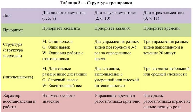 структура тренировки для начинающих