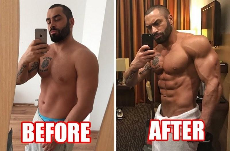 Лазар до и после