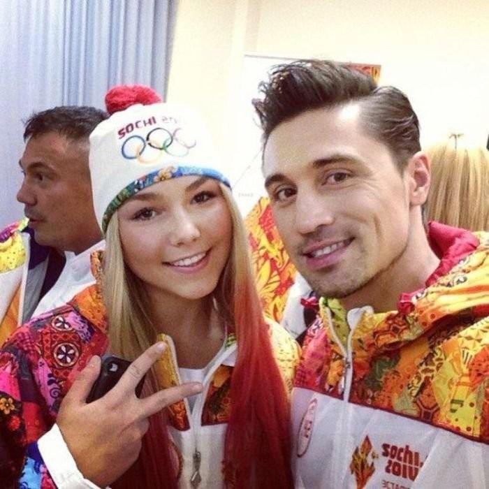 Марьяна Наумова и Билан на олимпийских играх Сочи