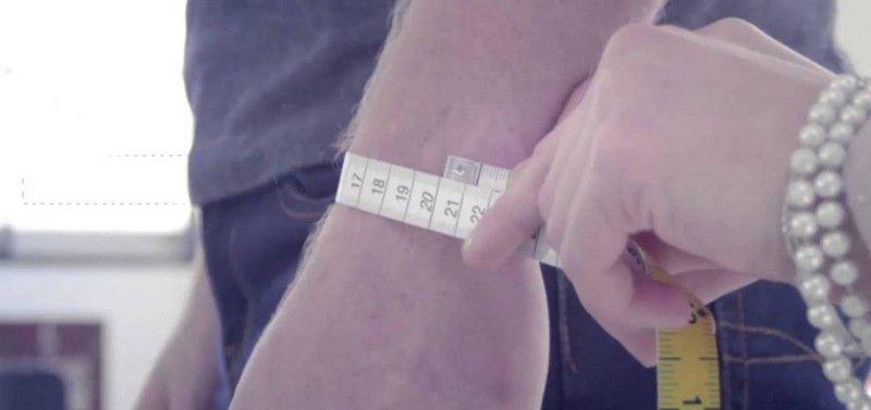 Измерение обхвата запястья