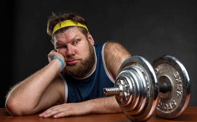 эндоморф в спортзале